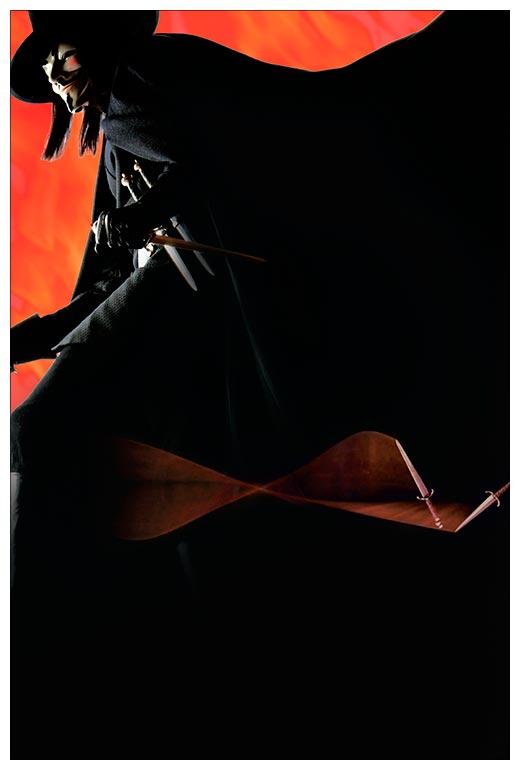 Хардпостер (на твёрдой основе) V for Vendetta / V значит Вендетта